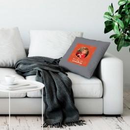 Liefdeskussen bedrukken - Lichtgrijs - 50x60cm - Ongevuld