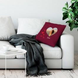 Liefdeskussen bedrukken - Bordeaux - 50x60cm
