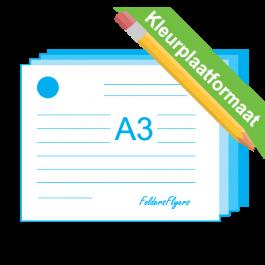 Briefpapier kleurplaat A3