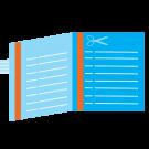 Afspraakkaartje Vierkant M gevouwen