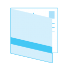 Ansichtkaart Vierkant S dubbel