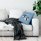 Liefdeskussen bedrukken - Lichtblauw - 50x60cm
