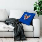 Liefdeskussen bedrukken - Donkerblauw - 50x60cm - Ongevuld