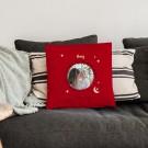 Liefdeskussen bedrukken - Rood - 40x40cm