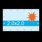 Spandoek 2x2 m