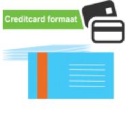 Visitekaartjes bestellen credit card formaat